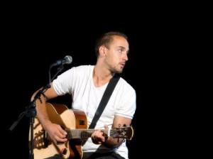 Guitar player listening